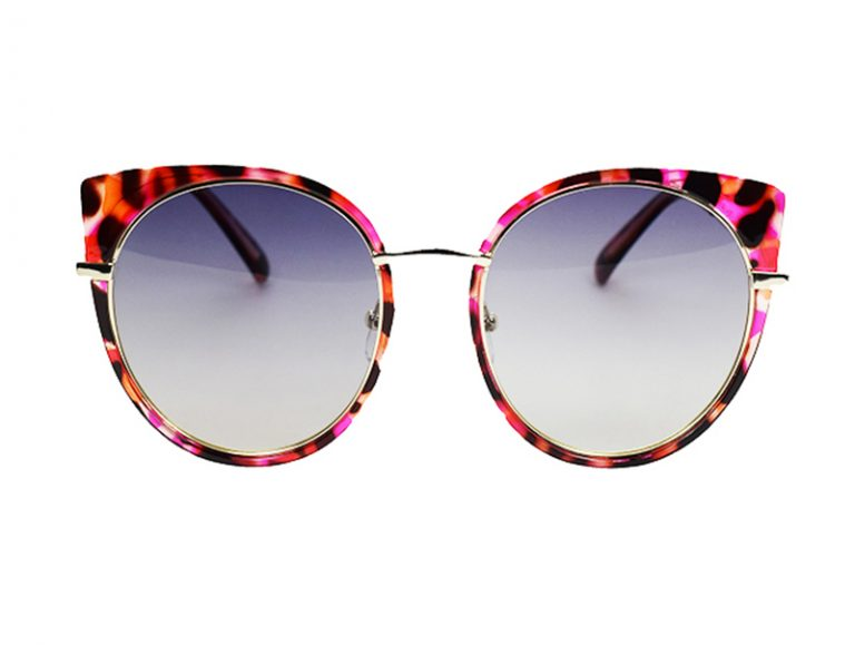 cea395609541 Fashion cat-eye design with shiny pink colour tones. Transparent light red  frame matching light b.
